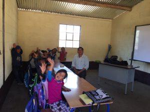 Se construyeron 3 aulas entre los años 2016 y 2017 en Guatemala