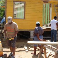 Hurracaine Earl Relief: Built a house for a Belize Family